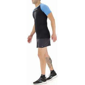 UYN Marathon Shortsleeve Shirt Men, zwart/blauw